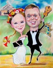 karykaturzysta karykatury na weselu wesele pamiatka podziekowania dla rodzicow (1)