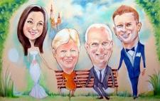 karykaturzysta karykatury na weselu wesele pamiatka podziekowania dla rodzicow (11)