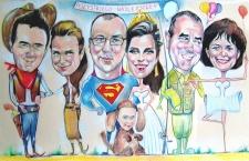 karykaturzysta karykatury na weselu wesele pamiatka podziekowania dla rodzicow (12)