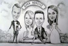 karykaturzysta karykatury na weselu wesele pamiatka podziekowania dla rodzicow (15)