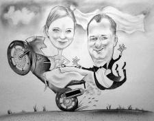 karykaturzysta karykatury na weselu wesele pamiatka podziekowania dla rodzicow (16)