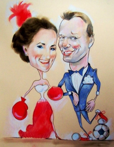 karykaturzysta karykatury na weselu wesele pamiatka podziekowania dla rodzicow (2)