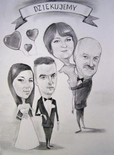 karykaturzysta karykatury na weselu wesele pamiatka podziekowania dla rodzicow (21)