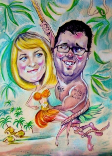 karykaturzysta karykatury na weselu wesele pamiatka podziekowania dla rodzicow (23)