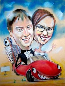 karykaturzysta karykatury na weselu wesele pamiatka podziekowania dla rodzicow (24)