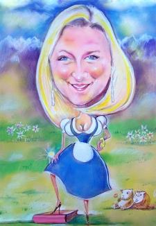 karykaturzysta karykatury na weselu wesele pamiatka podziekowania dla rodzicow (25)