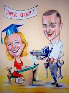 karykaturzysta karykatury na weselu wesele pamiatka podziekowania dla rodzicow (27)
