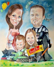 karykaturzysta karykatury na weselu wesele pamiatka podziekowania dla rodzicow (28)