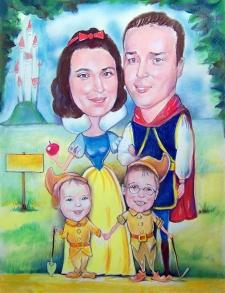 karykaturzysta karykatury na weselu wesele pamiatka podziekowania dla rodzicow (34)
