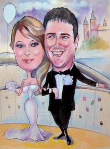 karykaturzysta karykatury na weselu wesele pamiatka podziekowania dla rodzicow (36)