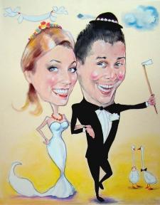 karykaturzysta karykatury na weselu wesele pamiatka podziekowania dla rodzicow (37)