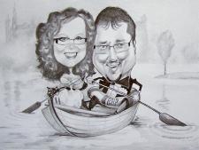 karykaturzysta karykatury na weselu wesele pamiatka podziekowania dla rodzicow (38)