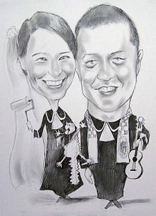 karykaturzysta karykatury na weselu wesele pamiatka podziekowania dla rodzicow (40)
