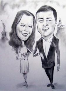 karykaturzysta karykatury na weselu wesele pamiatka podziekowania dla rodzicow (41)