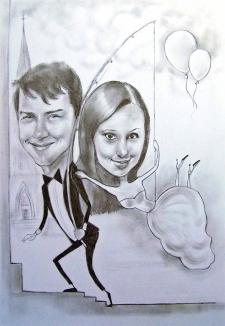 karykaturzysta karykatury na weselu wesele pamiatka podziekowania dla rodzicow (42)