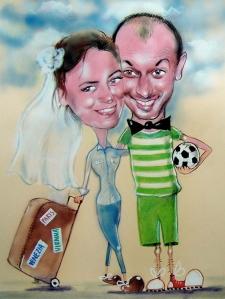 karykaturzysta karykatury na weselu wesele pamiatka podziekowania dla rodzicow (46)