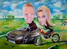 karykaturzysta karykatury na weselu wesele pamiatka podziekowania dla rodzicow (50)