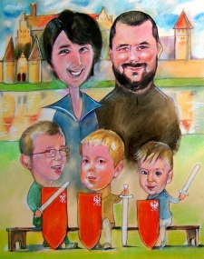 karykaturzysta karykatury na weselu wesele pamiatka podziekowania dla rodzicow (51)