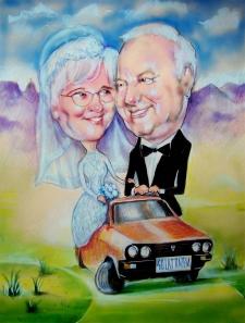 karykaturzysta karykatury na weselu wesele pamiatka podziekowania dla rodzicow (53)