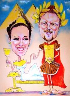 karykaturzysta karykatury na weselu wesele pamiatka podziekowania dla rodzicow (58)