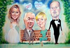 karykaturzysta karykatury na weselu wesele pamiatka podziekowania dla rodzicow (8)