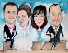 karykaturzysta karykatury na weselu wesele pamiatka podziekowania dla rodzicow (9)